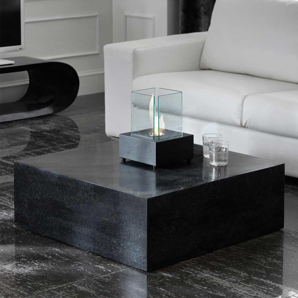 Wohnzimmer Tisch  Wohnzimmertisch Vinallia aus Stein Block
