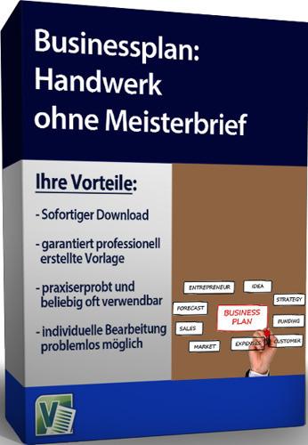 Zulassungsfreies Handwerk Ohne Gesellenbrief  Businessplan Handwerk ohne Meisterbrief Sofort Download