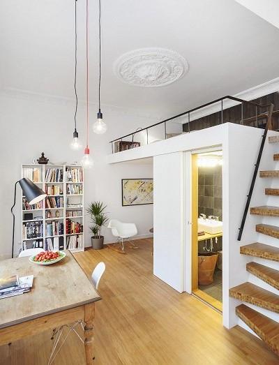 1 Raum Wohnung  Die kleine Wohnung einrichten mit Hochhbett fresHouse
