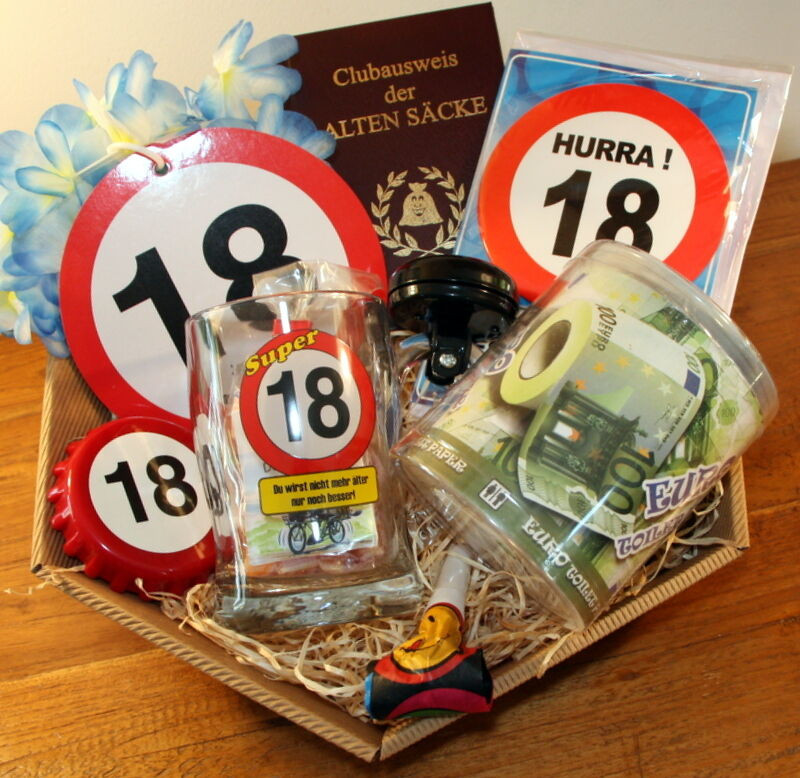 18 Kleine Geschenke Zum 18. Geburtstag Junge  18 Geburtstag Geschenk Junge Geschenkidee