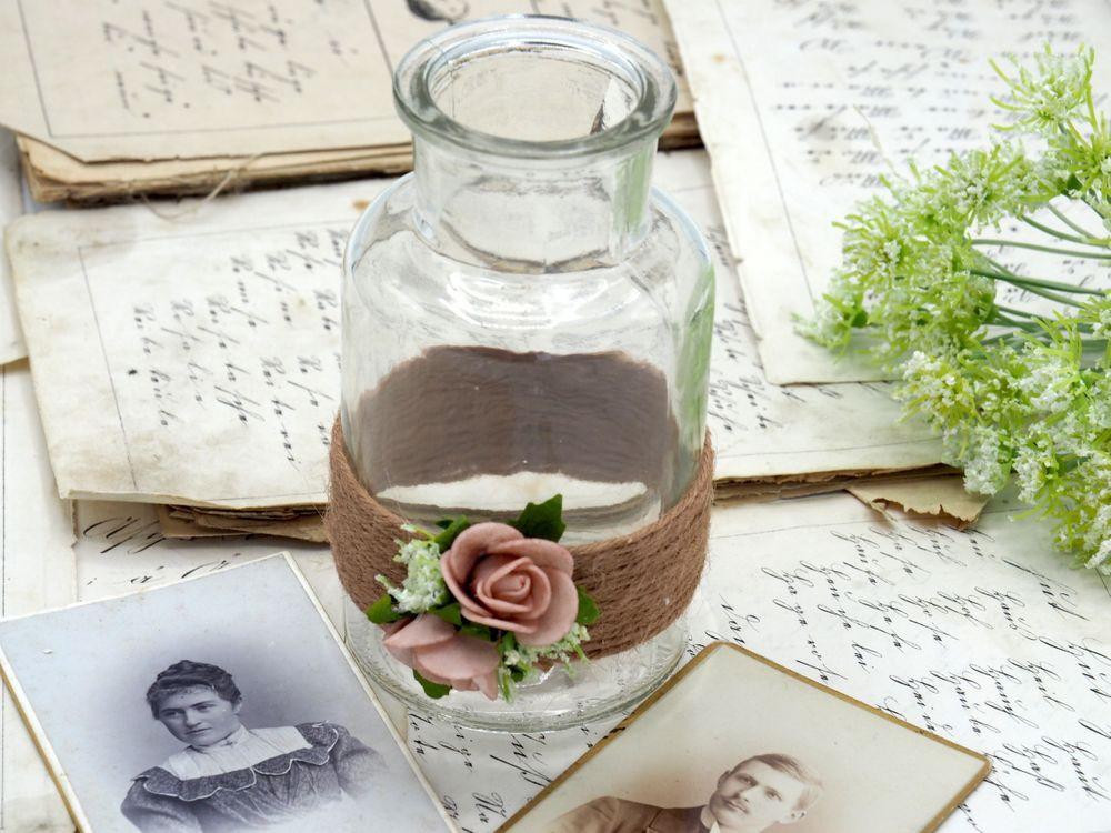 2 Hochzeit  2 Vasen Hochzeit Vintage Rosa Mellow Rose Tischdeko AMELIE