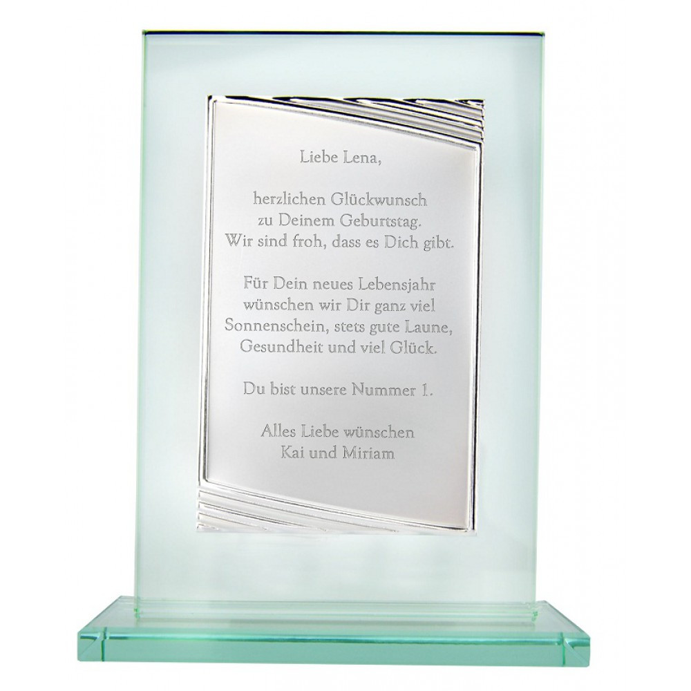 25 Jähriges Firmenjubiläum Geschenke  Glaspokal mit Gravur Glaspokal als Jubiläumsgeschenk