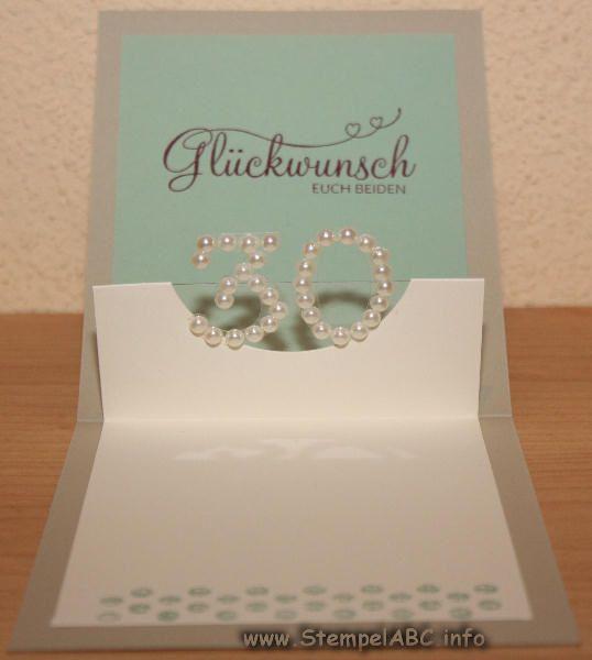 30 Hochzeitstag Geschenke Perlenhochzeit  Karte zum Hochzeitstag Perlenhochzeit