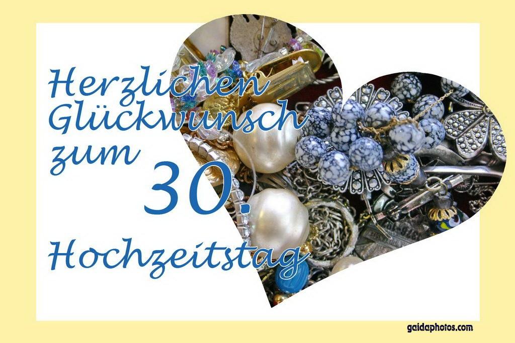 30 Hochzeitstag Geschenke Perlenhochzeit  30 Hochzeitstag Perlenhochzeit Grußkarten