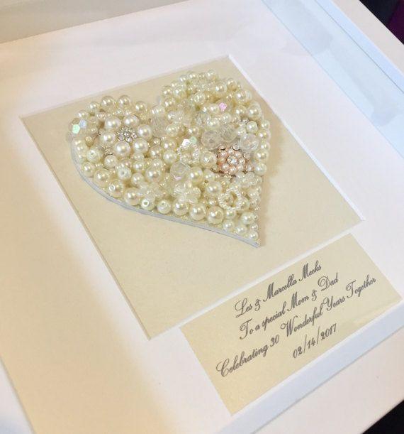 30 Hochzeitstag Geschenke Perlenhochzeit  Ein schönes selbstgemachtes Geschenk zum 30 Hochzeitstag