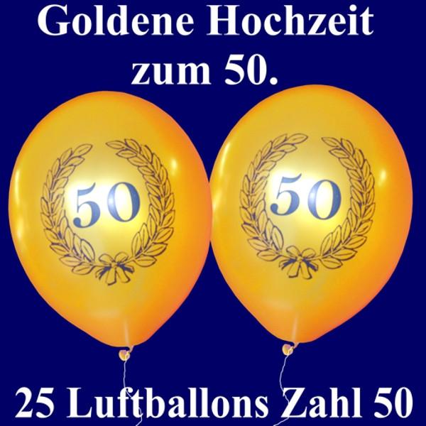 50 Jahre Hochzeit  Luftballons zur Goldenen Hochzeit 50 Jahre 25 Stück
