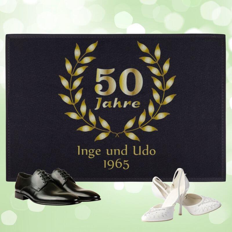 """50 Jahre Hochzeit  Fußmatte """"50 Jahre Goldene Hochzeit"""""""