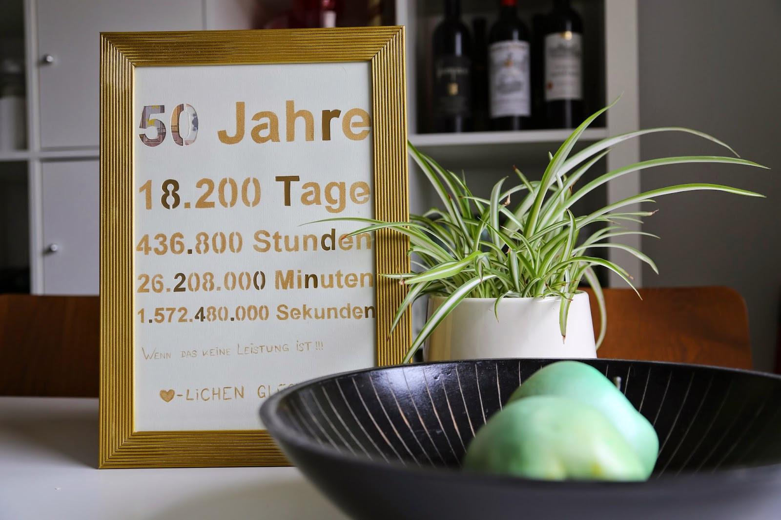 50 Jahre Hochzeit  Zwischen Tür und Angel DIY Geldgeschenk