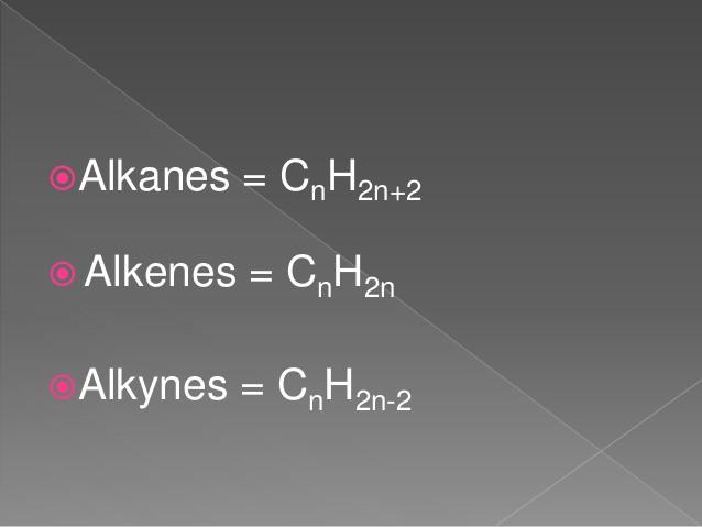 Alkane Alkene Alkine Tabelle  Alkane alkene alkyne