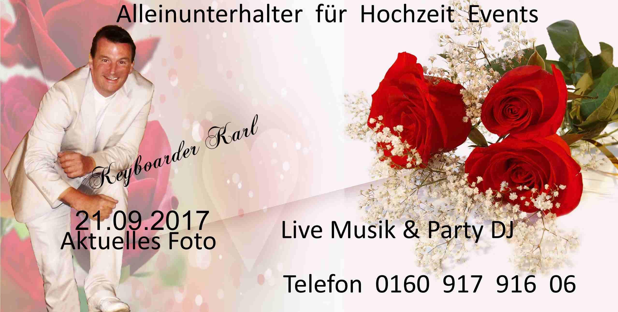 Alleinunterhalter Hochzeit  Alleinunterhalter für Hochzeit in NRW Aachen Düren Köln