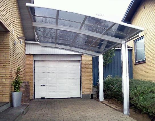Alu Carport  BERNSTEIN Carport Aluminium pulverbeschichtet 5400 x 2700