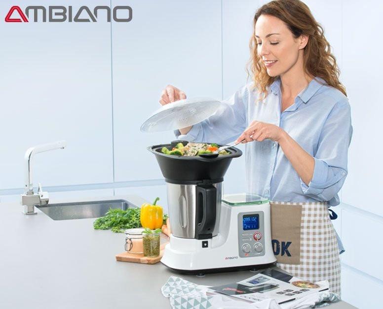 Ambiano Küchenmaschine  AMBIANO Küchenmaschine mit Kochfunktion 199 00 € Hofer