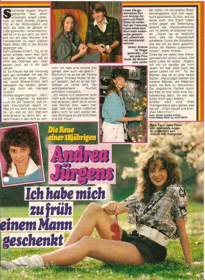 Andrea Jürgens Hochzeit Mit Ralf Stiller  Andrea Jürgens GedenkPage Boulevard Presse