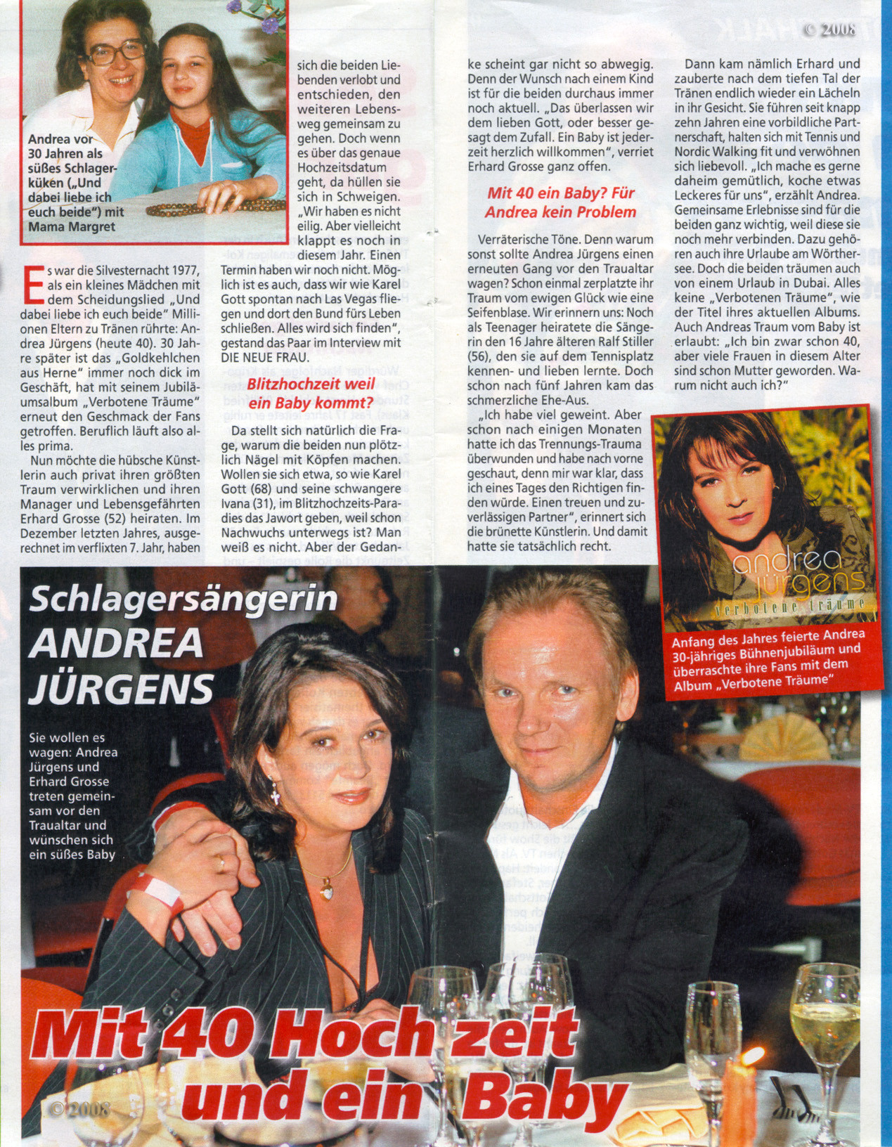 Andrea Jürgens Hochzeit Mit Ralf Stiller  Andrea Jürgens Fanseite · Bilder