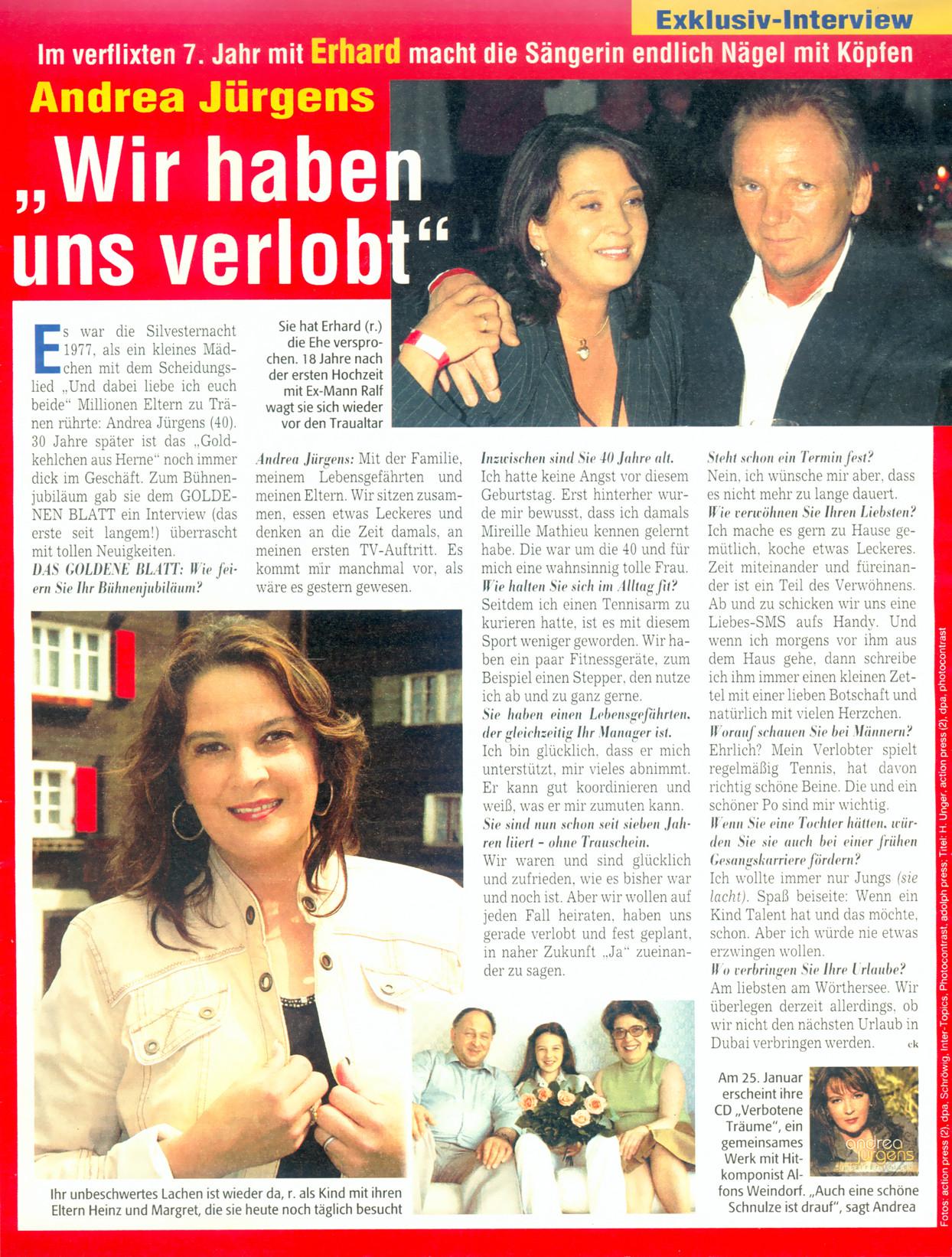 Andrea Jürgens Hochzeit Mit Ralf Stiller  Andrea Jurgens Hochzeit