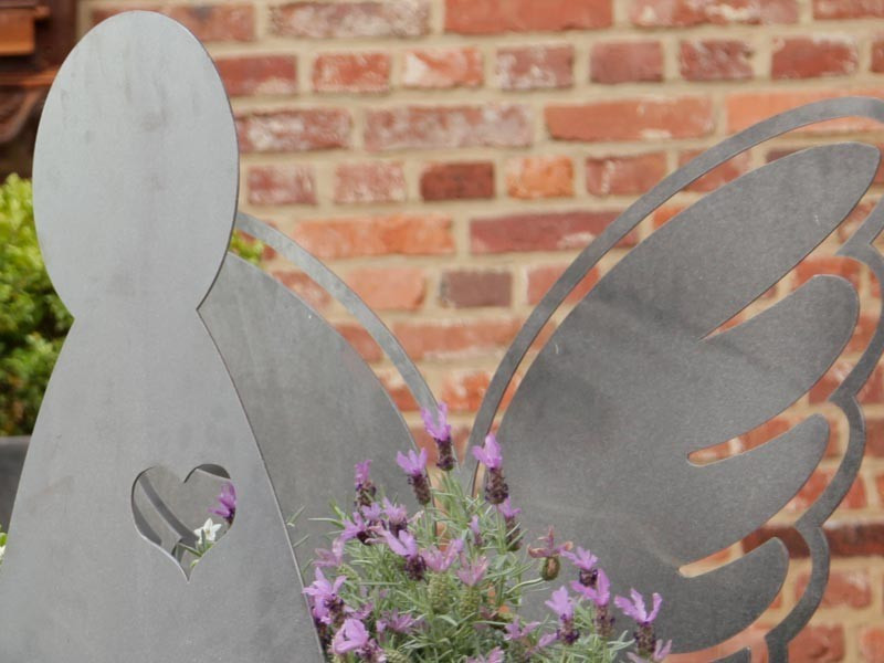 Angel Geschenke  Gartenskulptur Angel XXL Geschenke Design Farbe Rubinrot