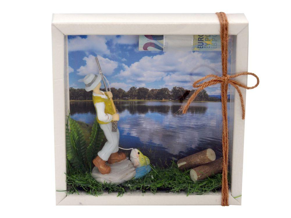 Angel Geschenke  Geldgeschenk Verpackung Angler Quadrat Geldgeschenke