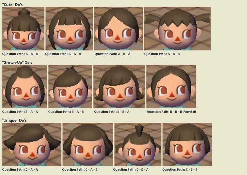 Animal Crossing New Leaf Frisuren  Acnl Friseur Haarfarbe – Friseur