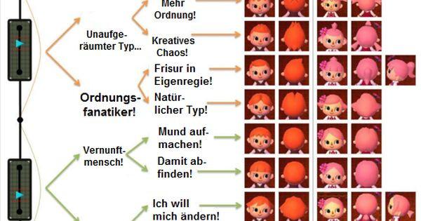 Animal Crossing New Leaf Frisuren  Frisuren & Augenfarbe Animal Crossing New Leaf