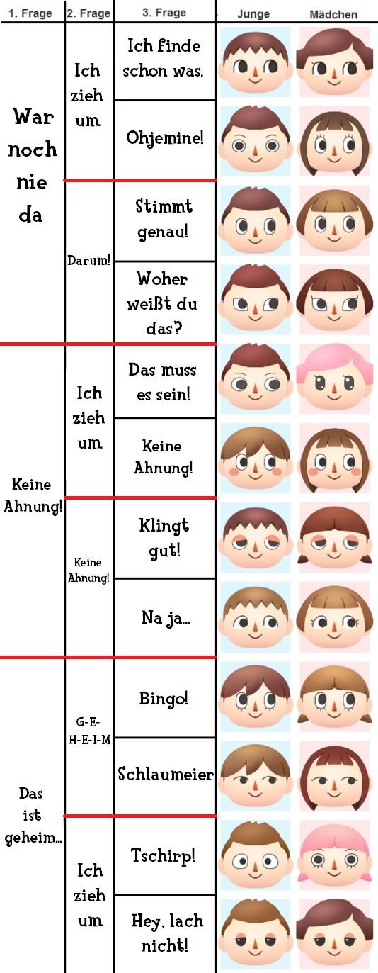 Animal Crossing New Leaf Frisuren  Gesichter Guide Animal Crossing New Leaf