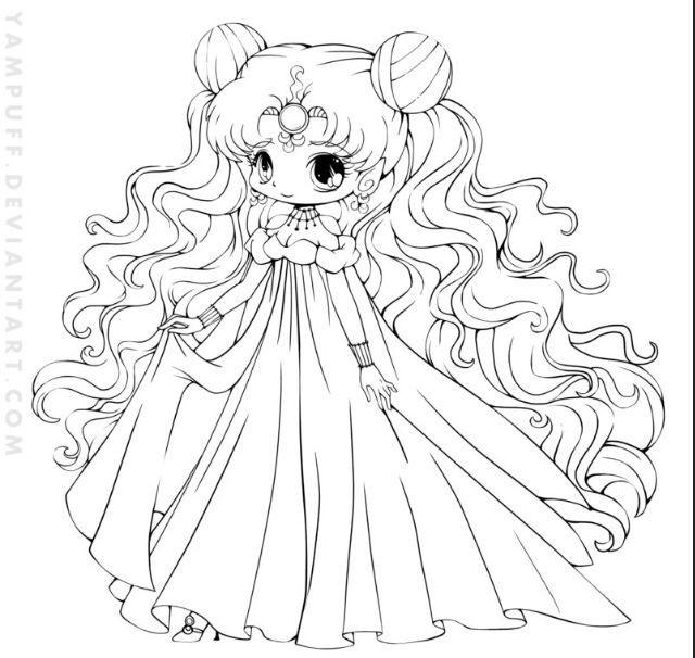 Anime Ausmalbilder Chibi  Chibi Sailor Moon Chibis Pinterest