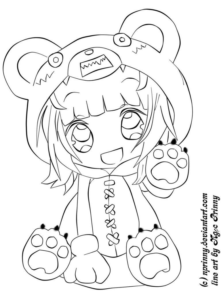 Anime Ausmalbilder Chibi  Pin by Angela Lanier on Coloring pages