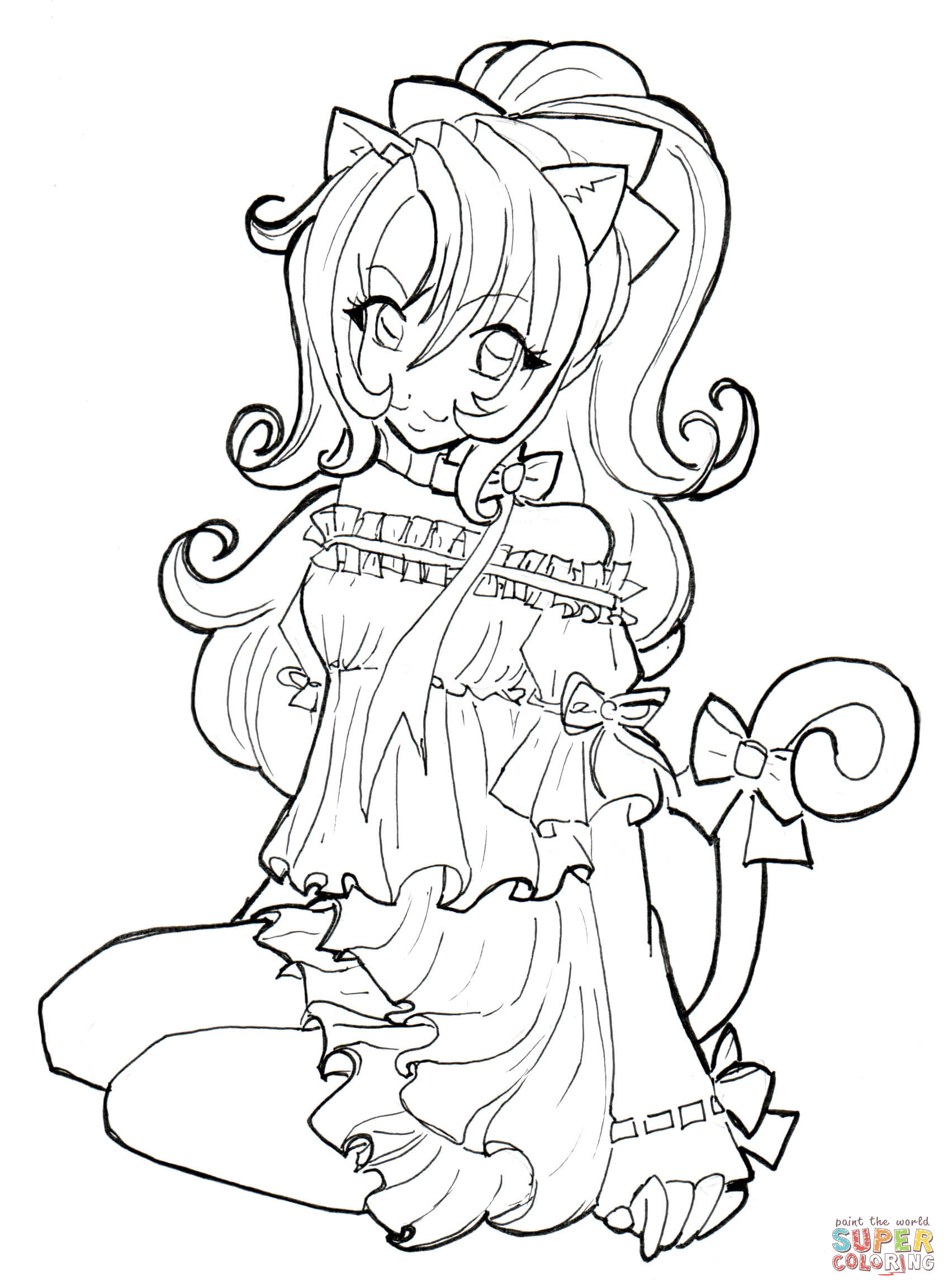 Anime Ausmalbilder Chibi  Printable Coloring Pages Swd Anime People Coloring Home