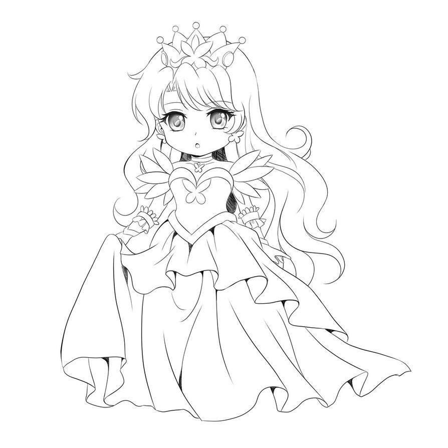 Anime Ausmalbilder Chibi  Pin von marjolaine grange auf coloriage chibi