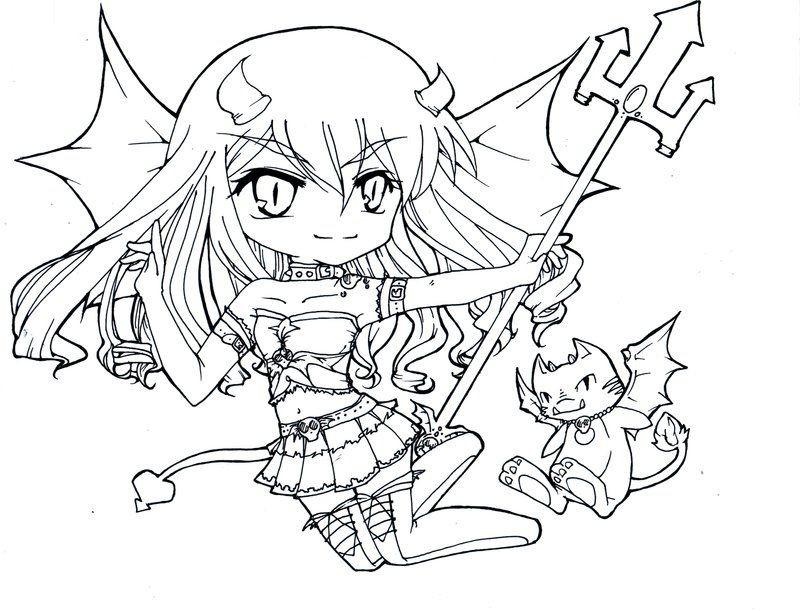 Anime Ausmalbilder Chibi  Download chibi coloring pages