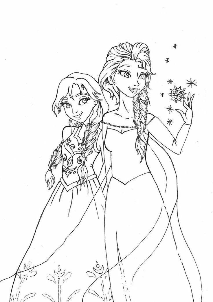 Anna Und Elsa Malvorlagen  ausmalbilder anna und elsa kostenlos
