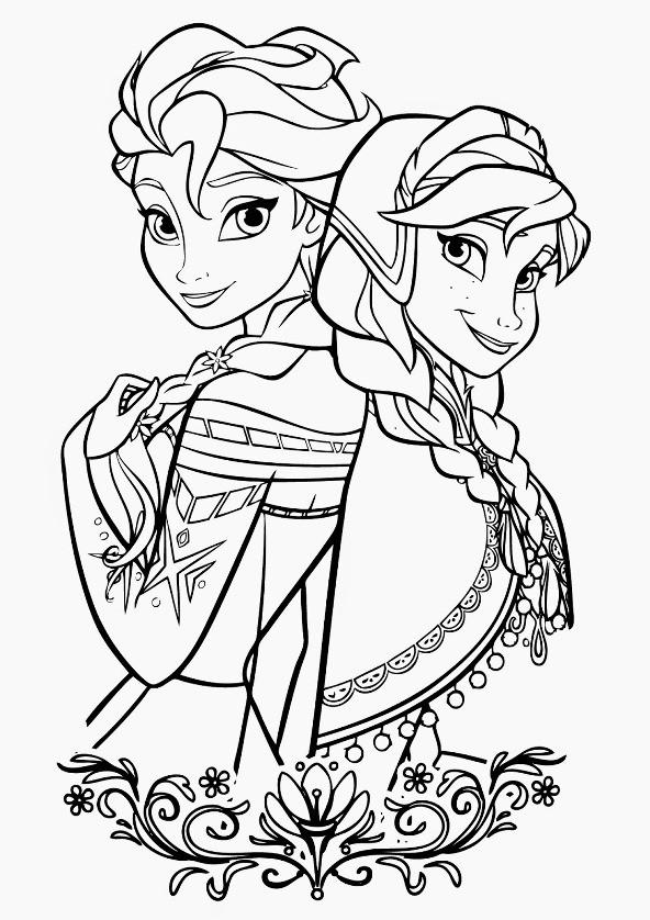 Anna Und Elsa Malvorlagen  Kids n fun