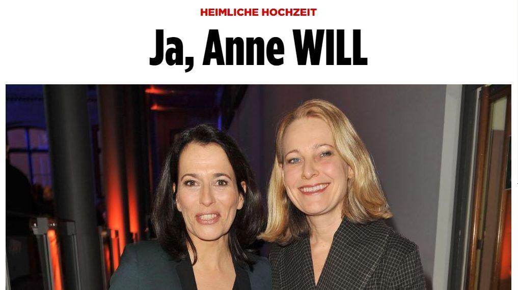 Anne Will Hochzeit Bilder  Homo Ehe Anne Will und Miriam Meckel haben geheiratet