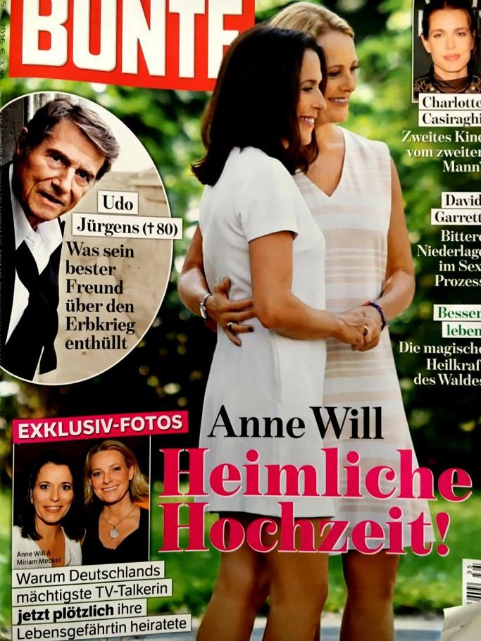Anne Will Hochzeit Bilder  Erstaunlich Von Anne Will Hochzeit Erstes Statement Zur