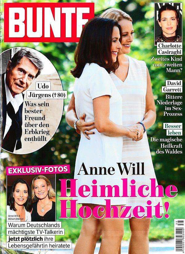 Anne Will Hochzeit Bilder  Anne Will Miriam Meckel Hochzeit Bild