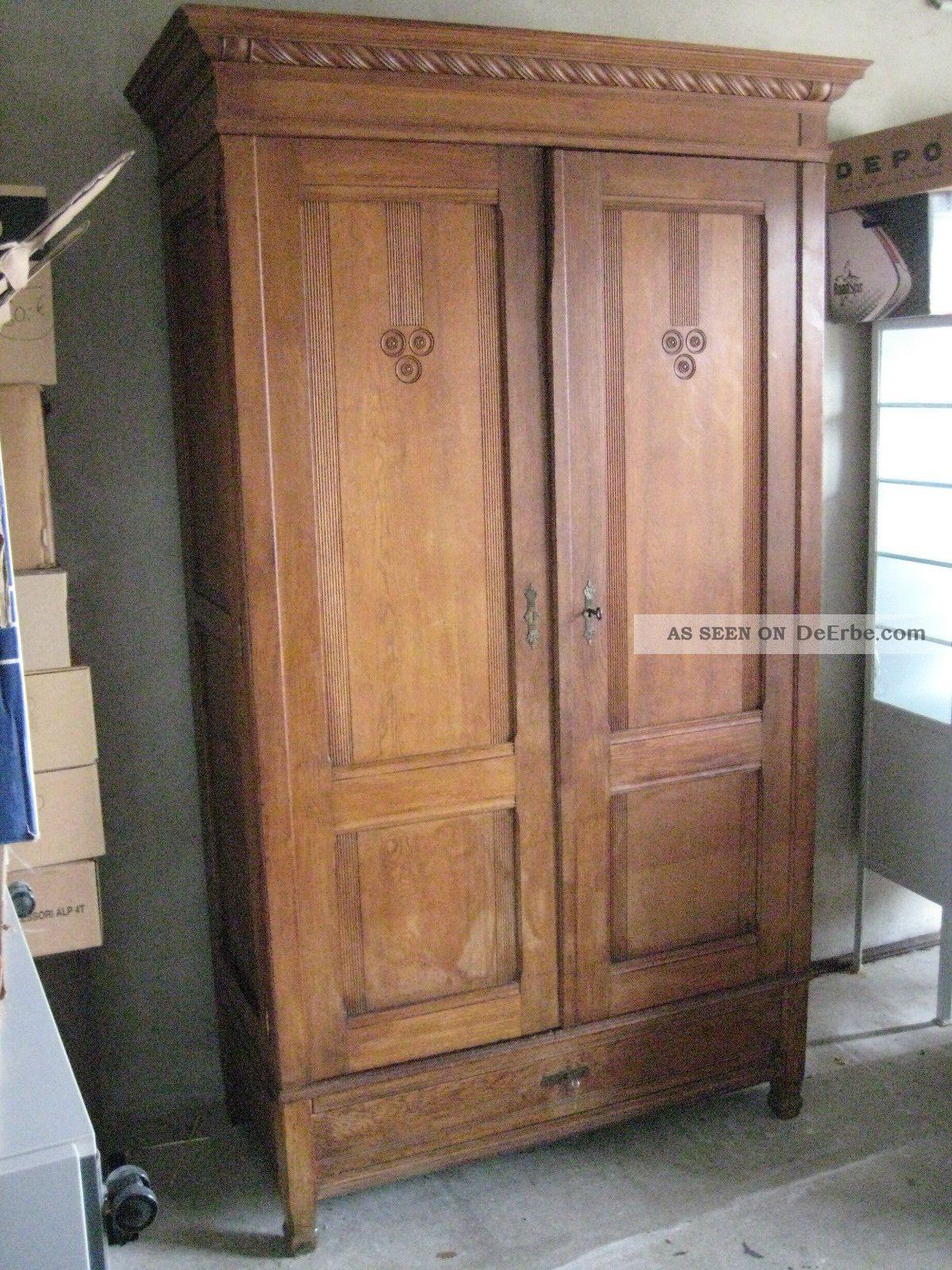 Antiker Schrank  Antiker Schrank Kleiderschrank 20 30er Jahre Nußbaum