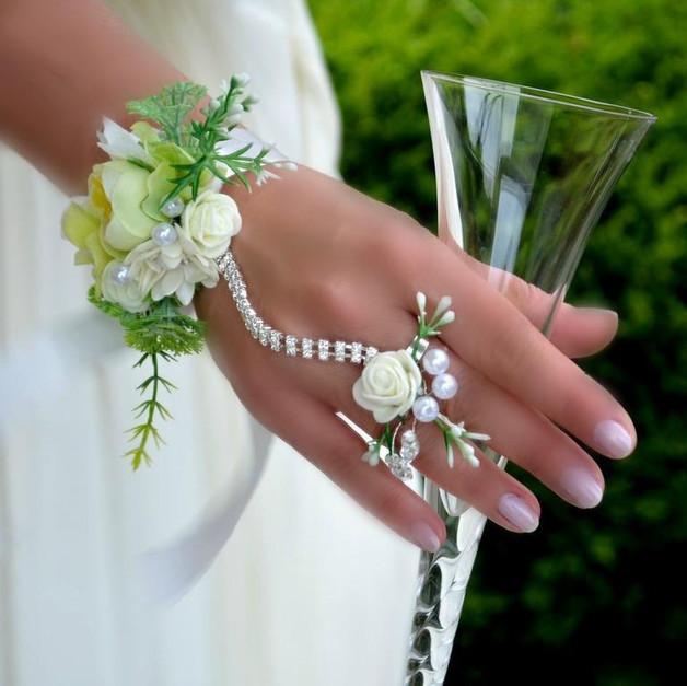 Armband Hochzeit  Brautschmuck Hochzeit armband und ring ein