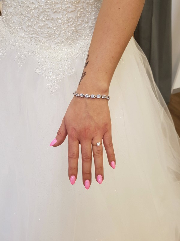 Armband Hochzeit  Brautschmuck Silber Kristall Armband hochzeit Schmuck