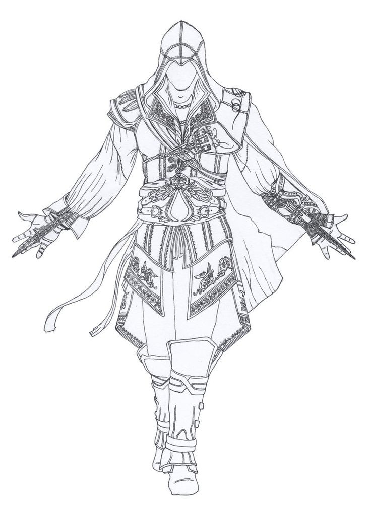 Assassins Creed Ausmalbilder  Assassin s Creed Coloring Pages Check this out and other