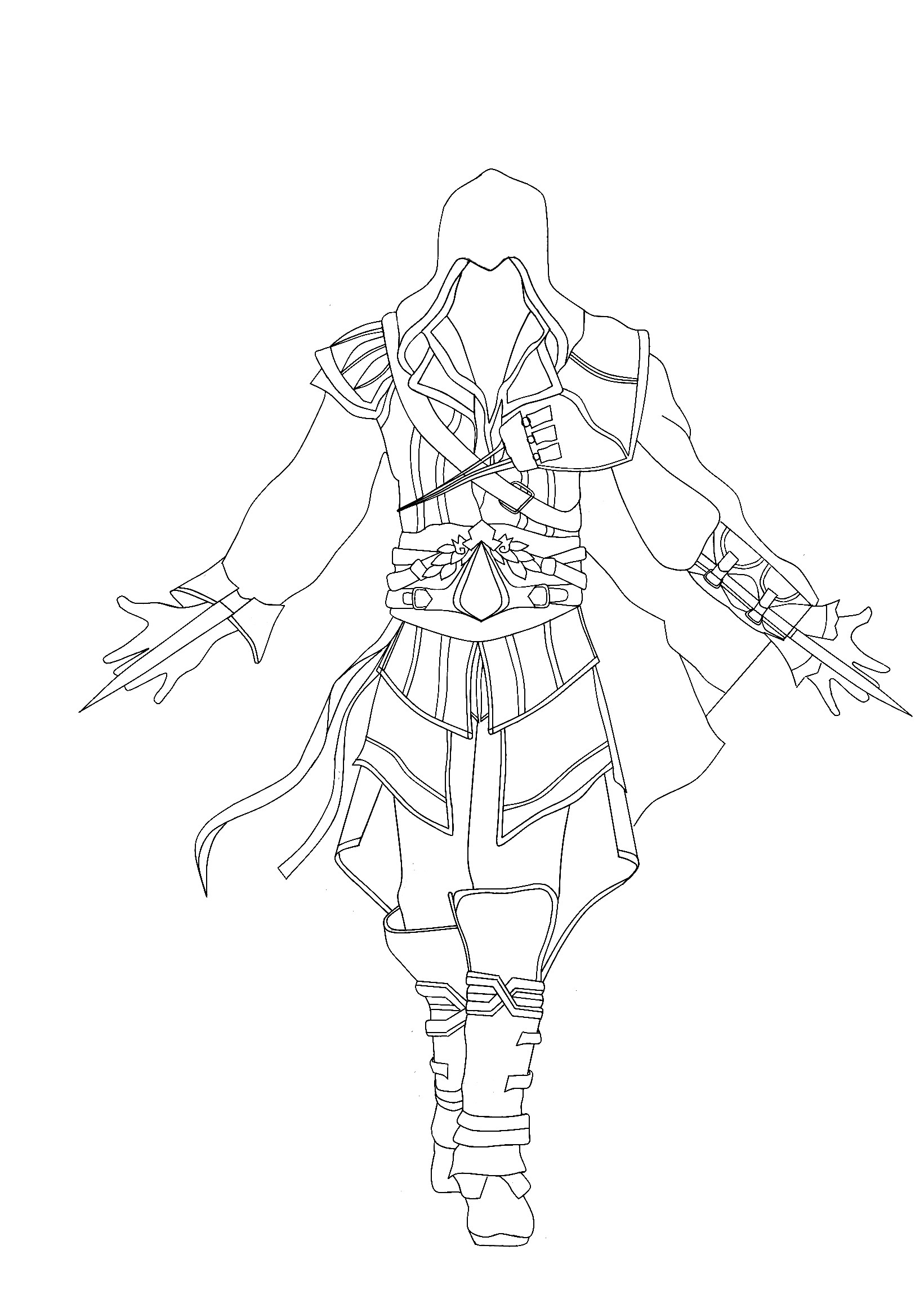 Assassins Creed Ausmalbilder  free Assassin Creed coloring pages