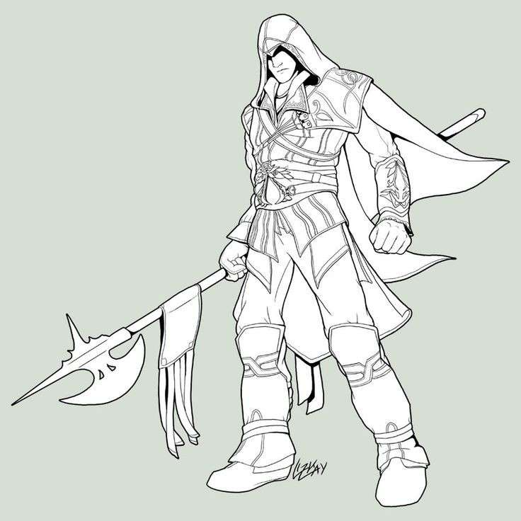 Assassins Creed Ausmalbilder  assassins creed 4 coloring pages
