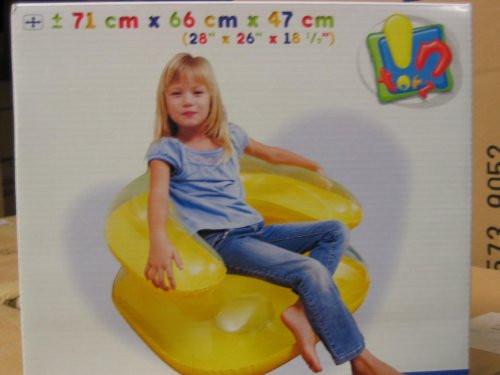 Aufblasbarer Sessel  Aufblasbarer Kinder Sessel transparent 3 Fach Sortiert