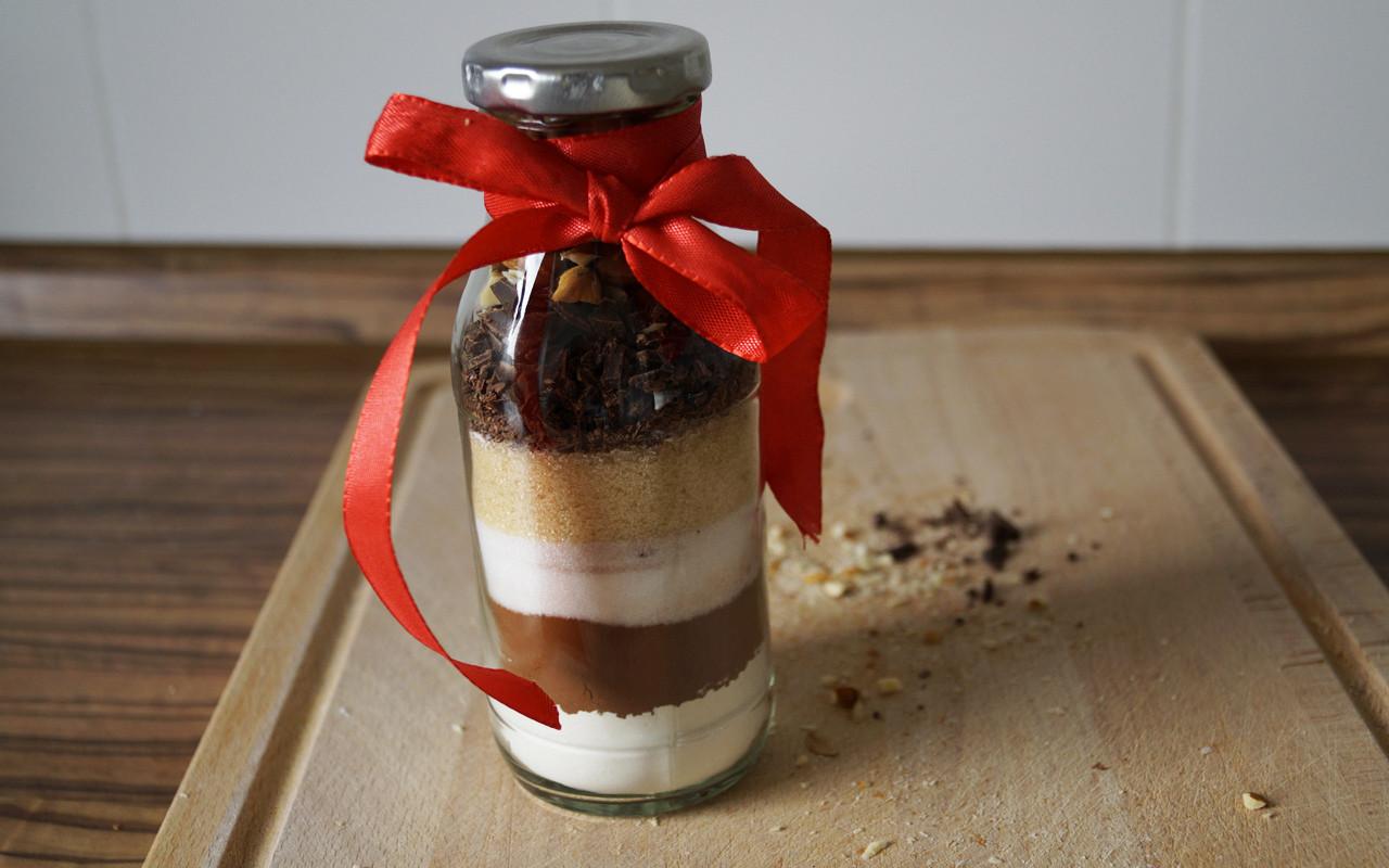 Ausgefallene Geschenke Selbst Machen  Geschenke selber machen Brownie Backmischung im Glas