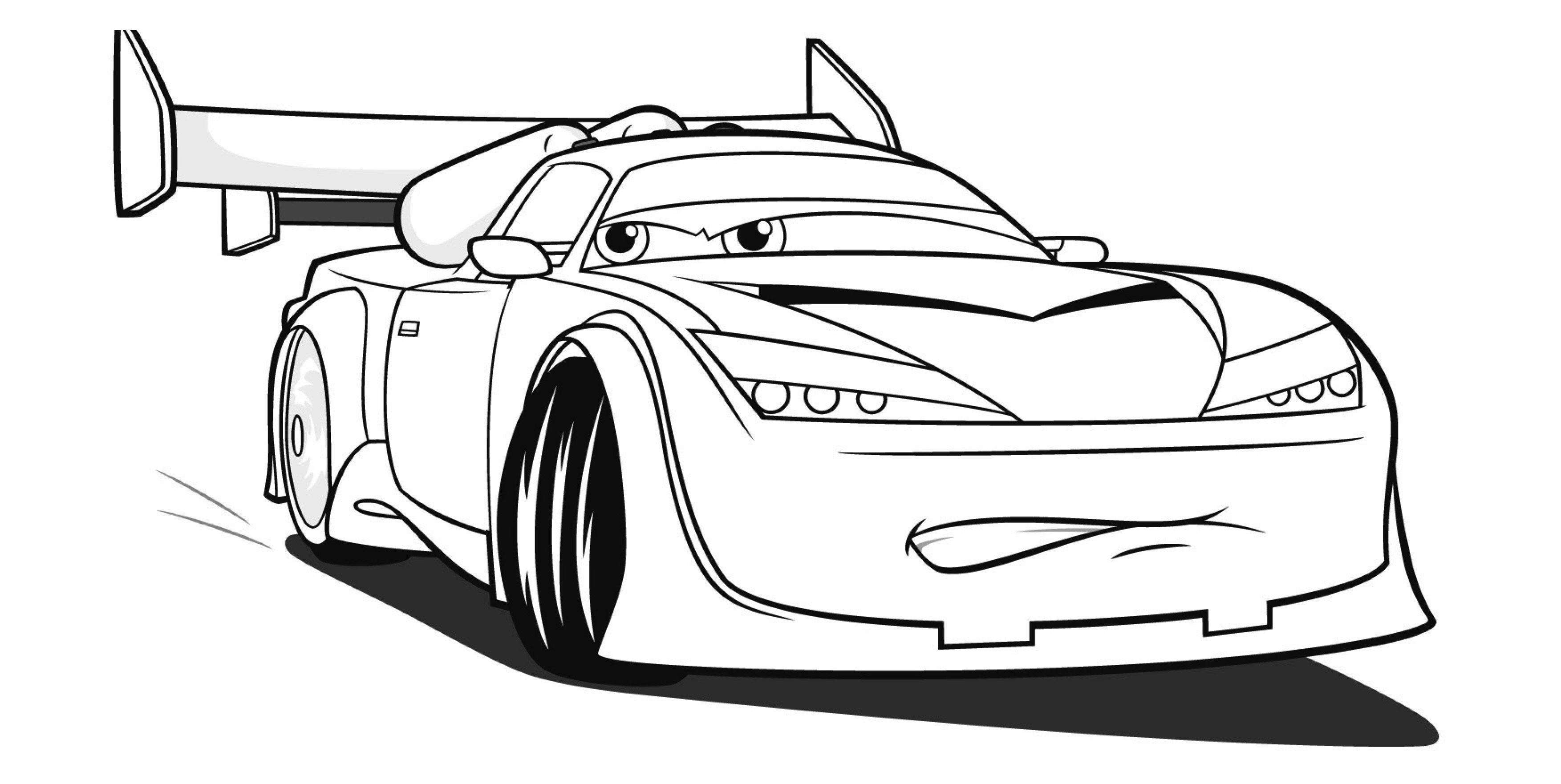 Ausmalbilder Auto  Ausmalbilder Disney Cars und Lightning Mcqueen