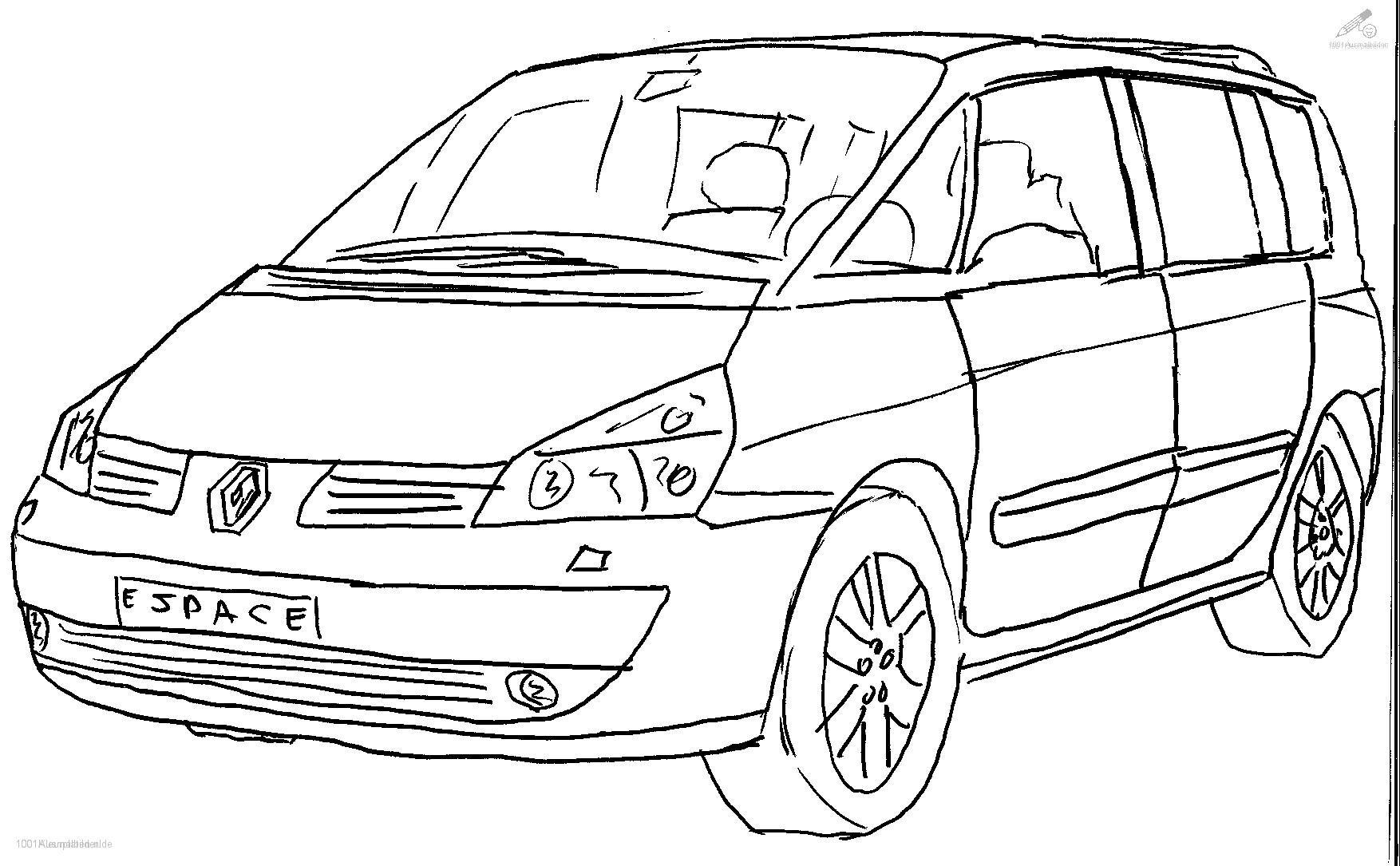Ausmalbilder Auto  Ausmalbild Renault