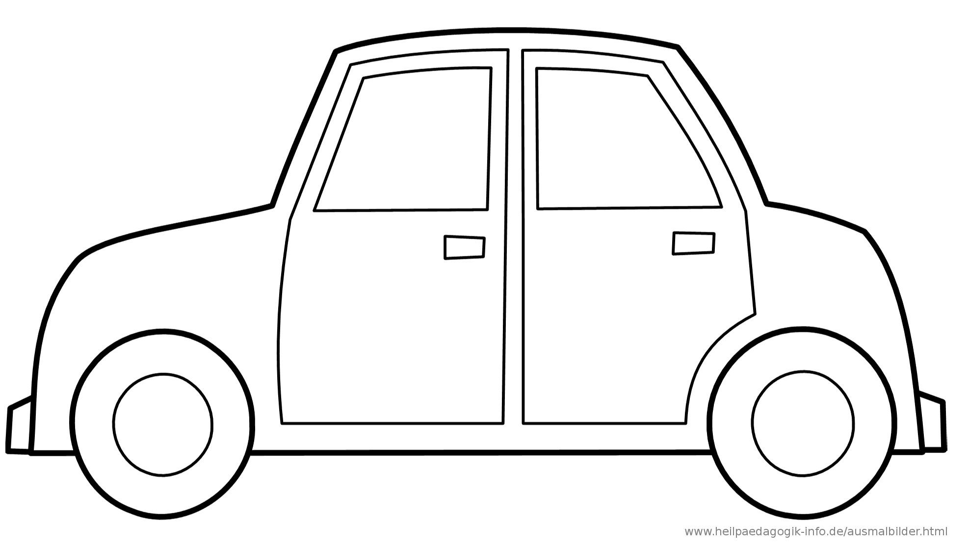 Ausmalbilder Auto  Ausmalbilder Autos
