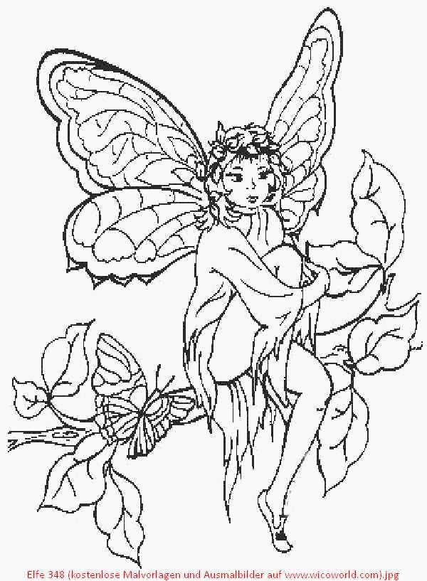 Ausmalbilder Elfe  Pin von Eva Gubik auf fairies