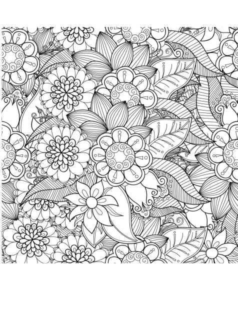 Ausmalbilder Erwachsene Natur  Ausmalbilder Erwachsene Blumen 694 Malvorlage Erwachsene