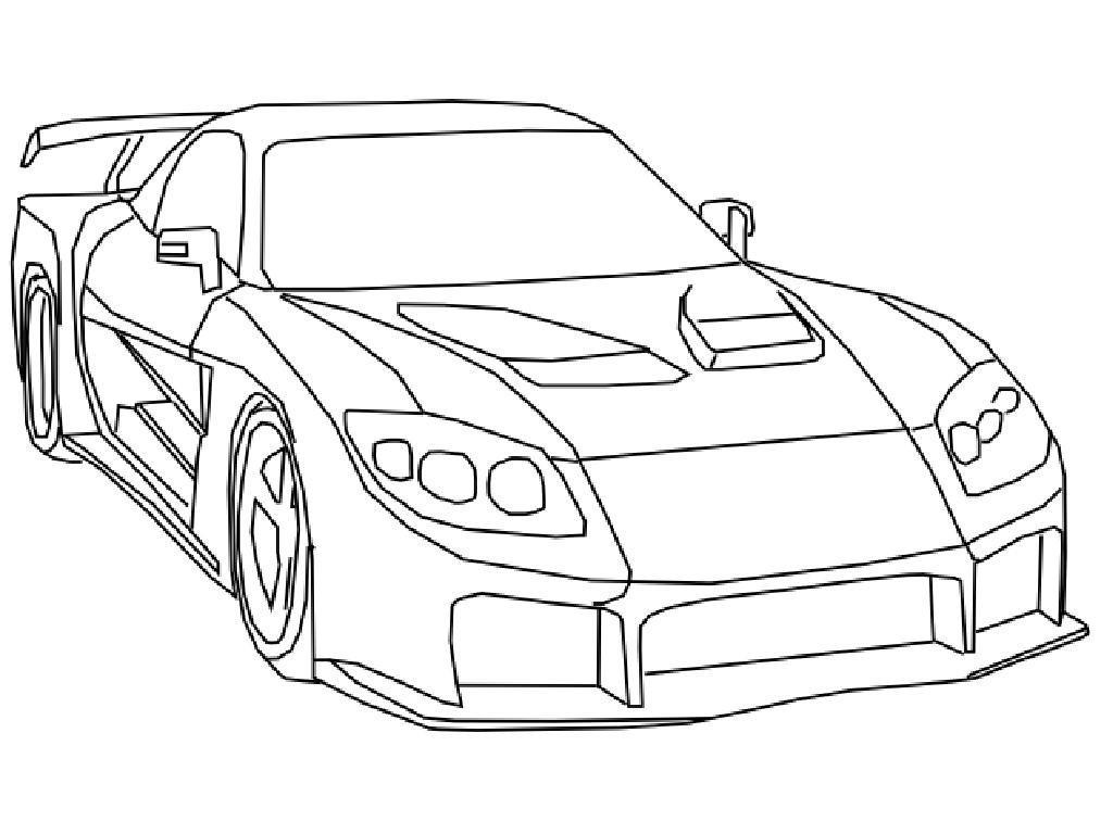 Ausmalbilder Fast And Furious  Fast And Furious Coloring Pages Coloring Home