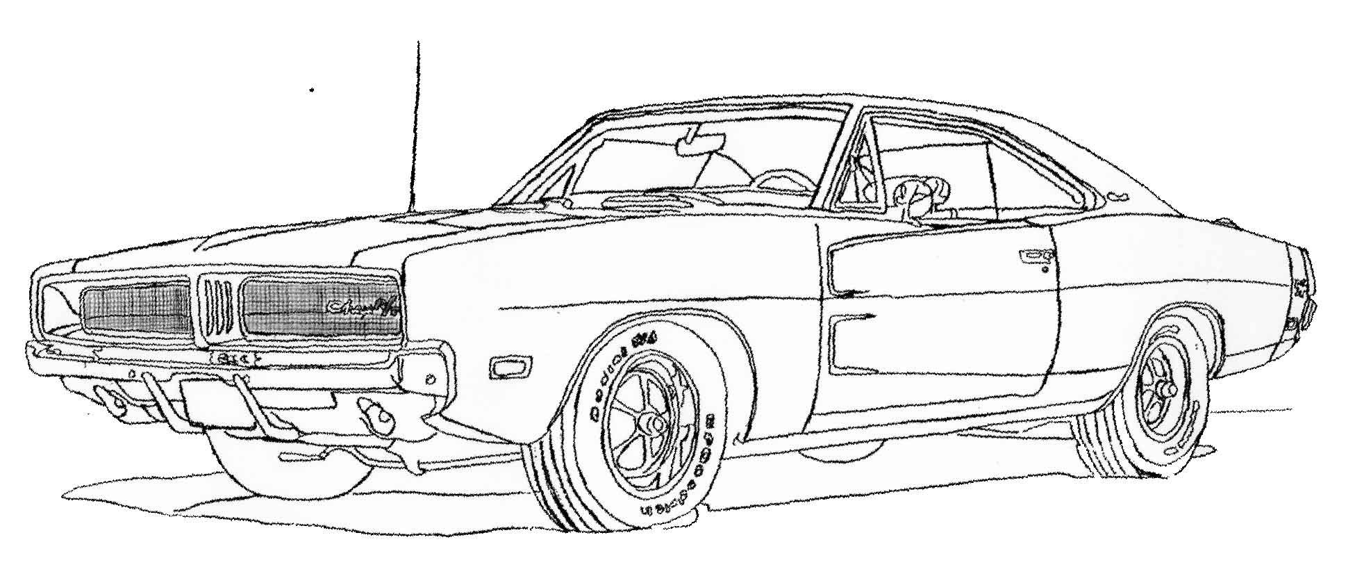 Ausmalbilder Fast And Furious  Dodge Charger R Colouring Pages Dodge Charger Coloring