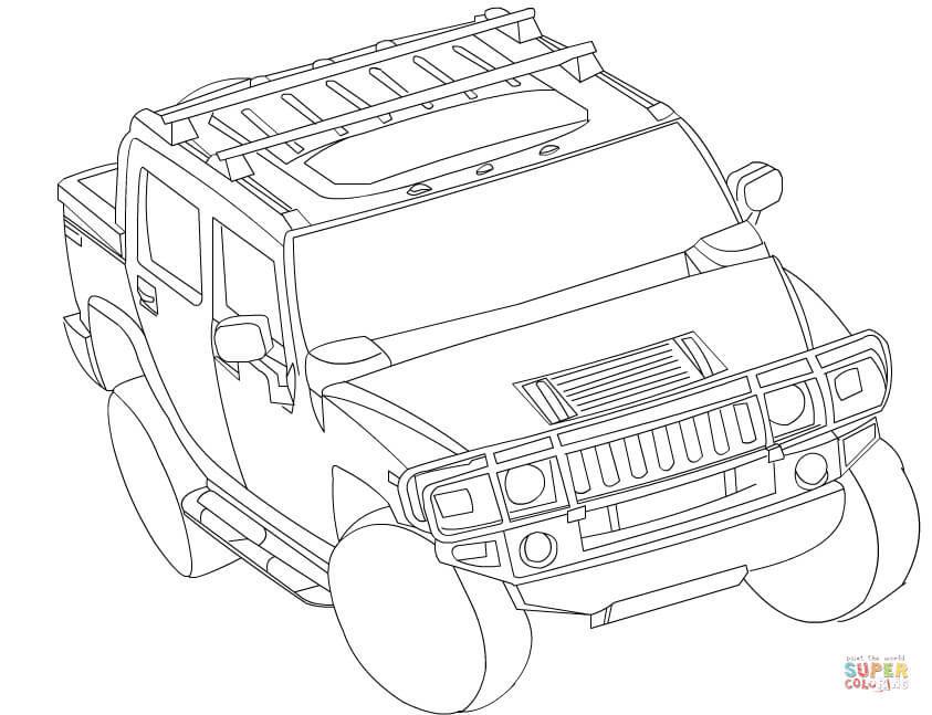 Ausmalbilder Fast And Furious  Ausmalbild Hummer H3